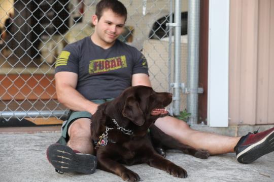 USN Veteran Dylan with Liberty