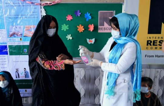Hygiene training and demonstration in Afghanistan
