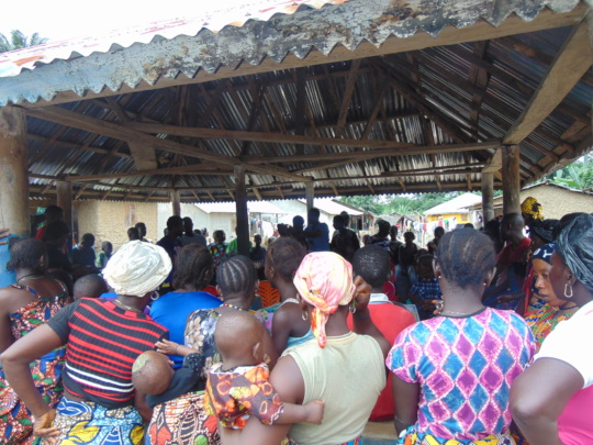 Community Meeting in Pujehun District