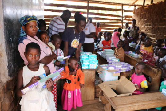 Beneficiaries after receiving scholastic items