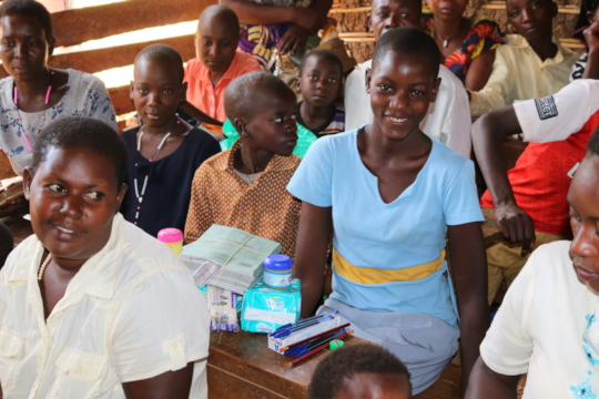Beneficiary with scholastic items