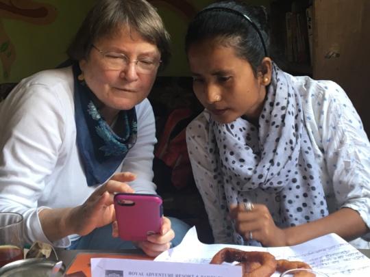 Bobbi and Sarita in Kathmandu