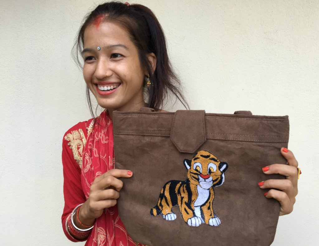 Train 25 women to sell Tiger bags in Nepal