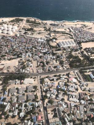Aerial View of Mogadishu