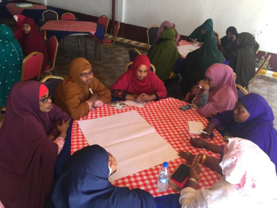 Women from across Mogadishu share experiences