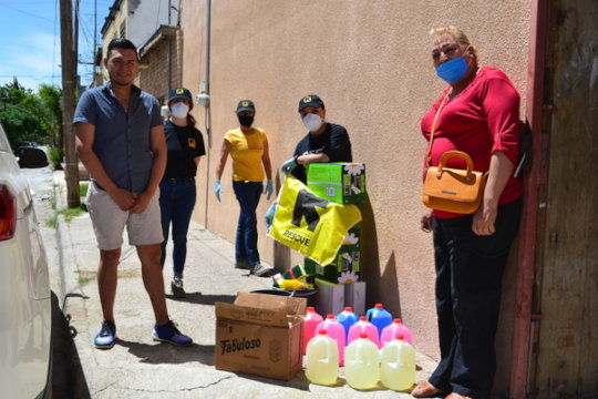Providing hygiene kits to thousands in Mexico