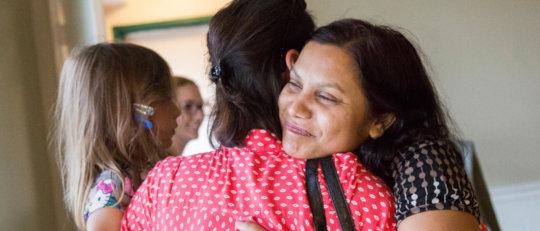 Asylum seekers &  friends are reunited in the U.S.