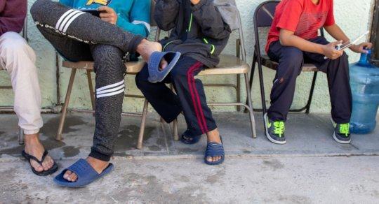 Asylum seekers at an IRC shelter in Juarez, Mexico