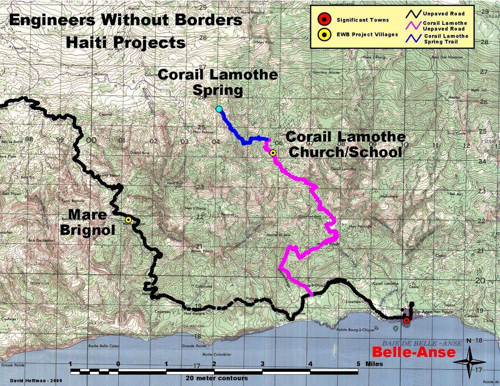 Map of Haiti - Corail Lamothe