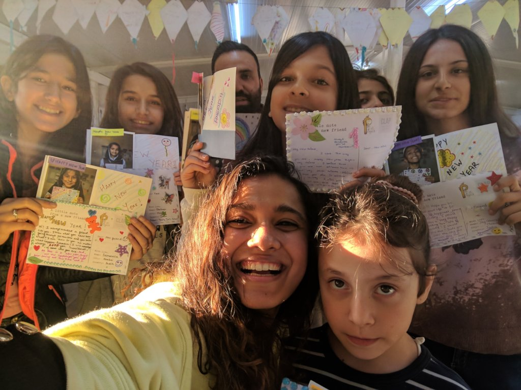 Joy at Skaramagkas Refugee Camp, Athens.