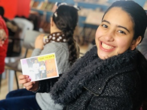 Joy at Balata Youth Group Centre, Palestine.