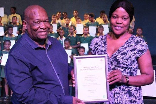 The Late Mr Chris Ndlovu receives 2018 ABRSM Award