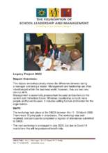 Foundation for School Leadership Devt AGENDA 13/3 (PDF)