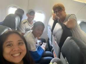 Selfie on Plane