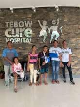 Leaving Tebow Cure Hospital