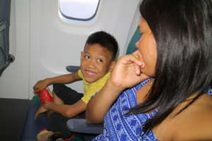 Terence 1st time on a plane