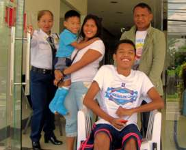 Leaving Hospital in Davao