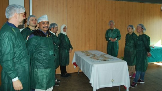 Dr. Sathyadas during his training in Barcelona