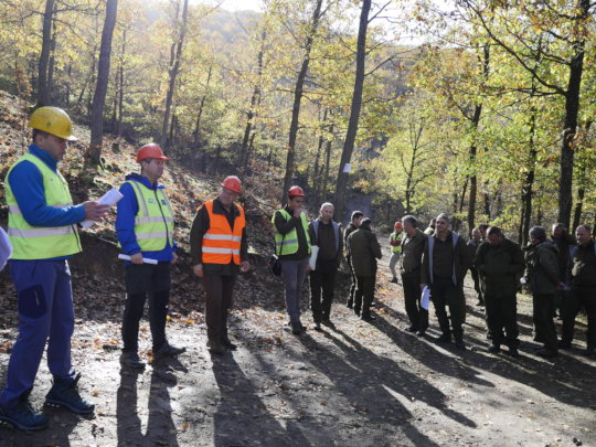 Field training of forest employees by WWF