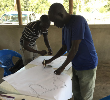 Refugee youth mobilizers map where trees can grow