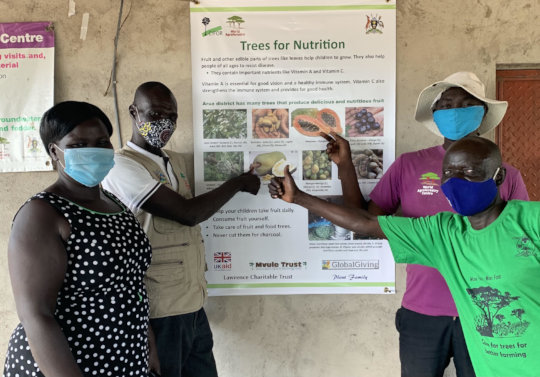"""Project team saying """"yes!"""" to nutrition from trees"""