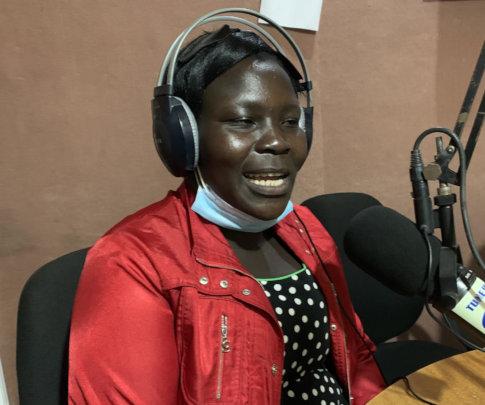 Gertrude on radio advocating indigenous fruit