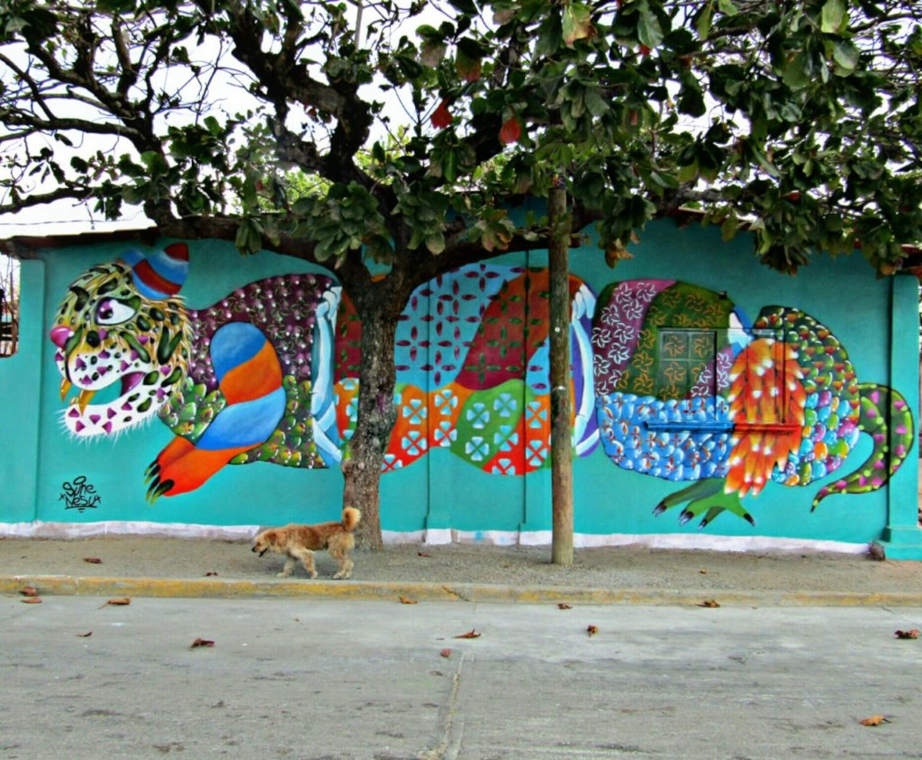 Mural route for economic reactivation