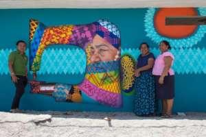 Textile mural