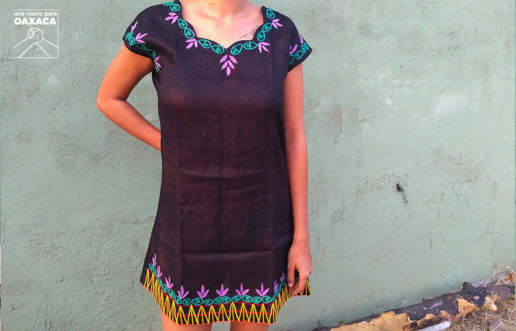 Dress with traditional embroidery