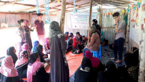 Counseling meeting with Rohingya women