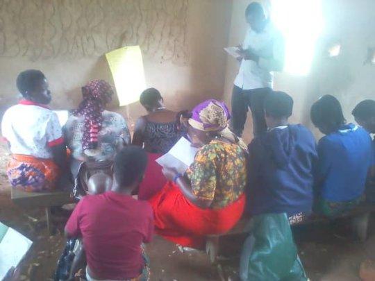 The ladies of Rushaga in class