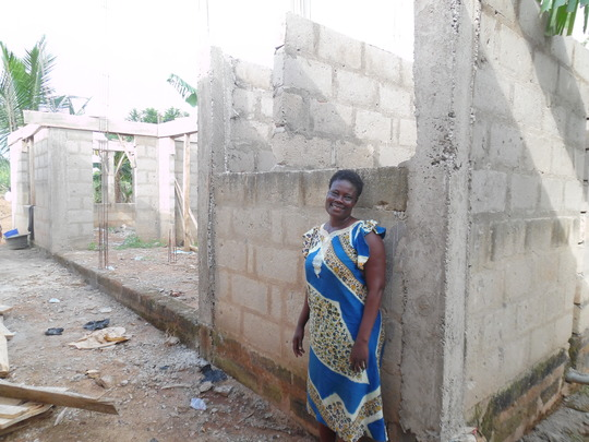 Sheltering her family: Ama's new home