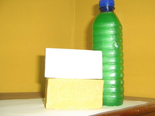 2 bar soaps and liquid soap