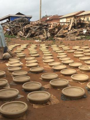 Felicia's pots.