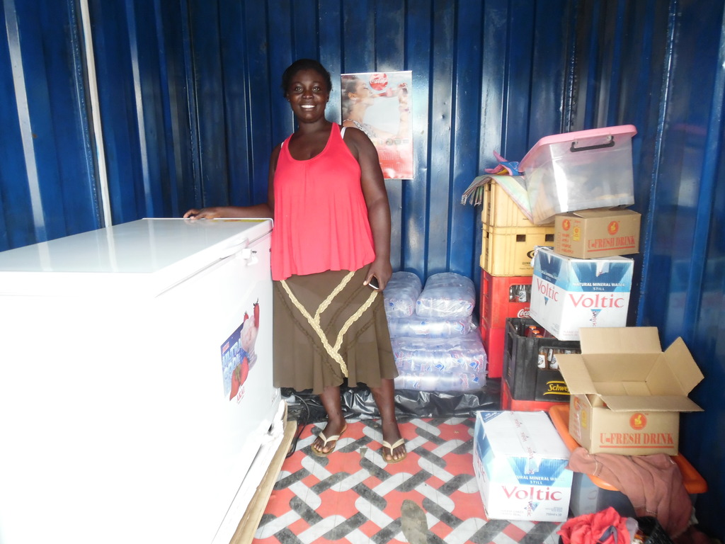 Ama and her new chest freezer