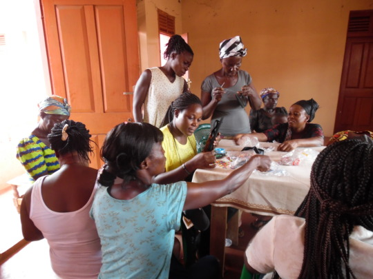 Learning beadmaking, May 2015