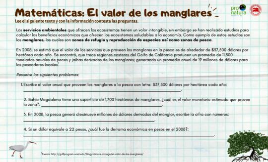 Example of math activity sheet.