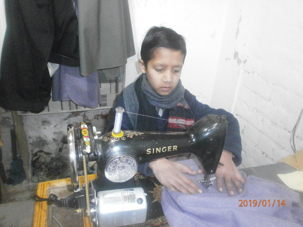 Ali busy in his craft