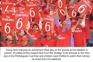 students enjoy a day at the cricket
