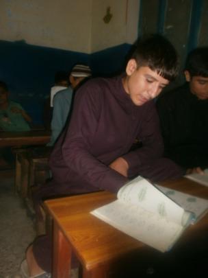 Sardar enjoying his Math class