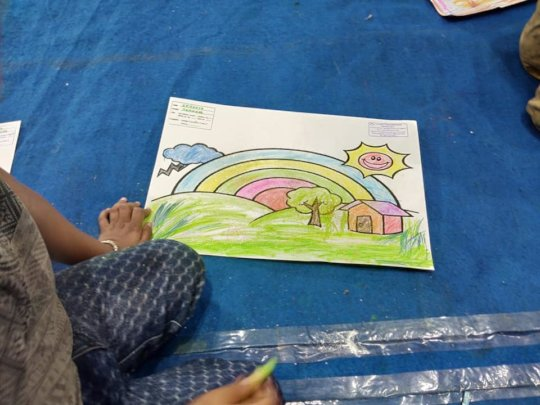 A beautiful painting done by an autistic child