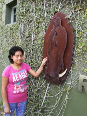 Karina in the garden