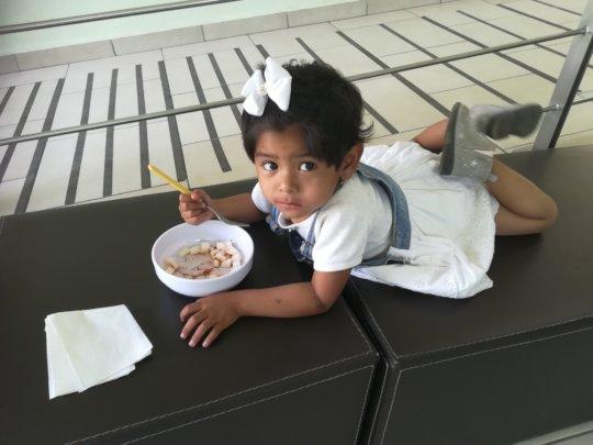 Rubi enjoying her food