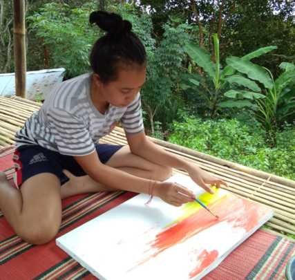 Art drawing lessons during study from home