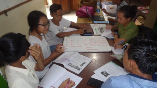EBPP Teachers preparing the teaching materials