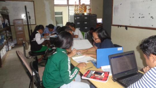 EBPP teachers assisting students for National Exam