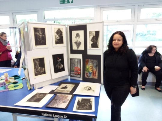 A local carer with her fantastic artwork