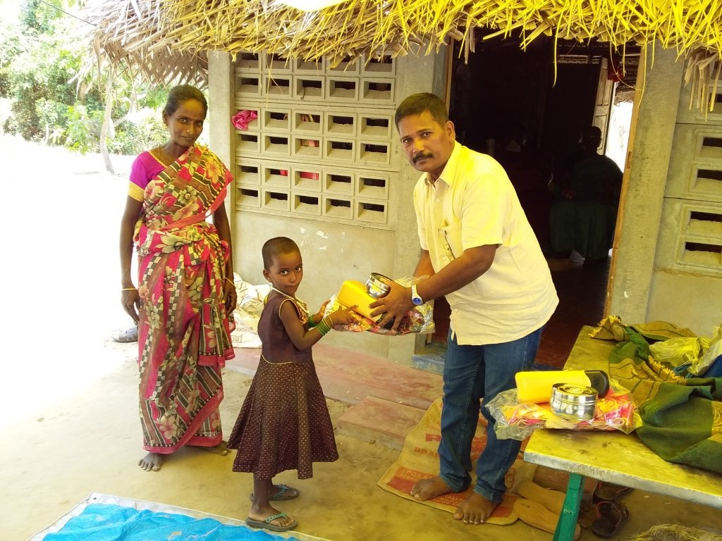 Distribution of Benefit materials to Target Child