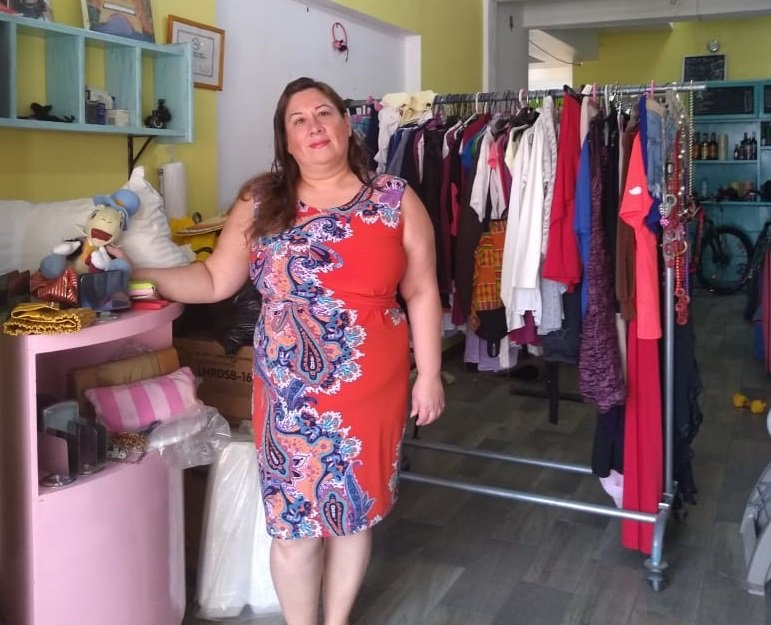 Marisela started a small bazaar to obtain funds.