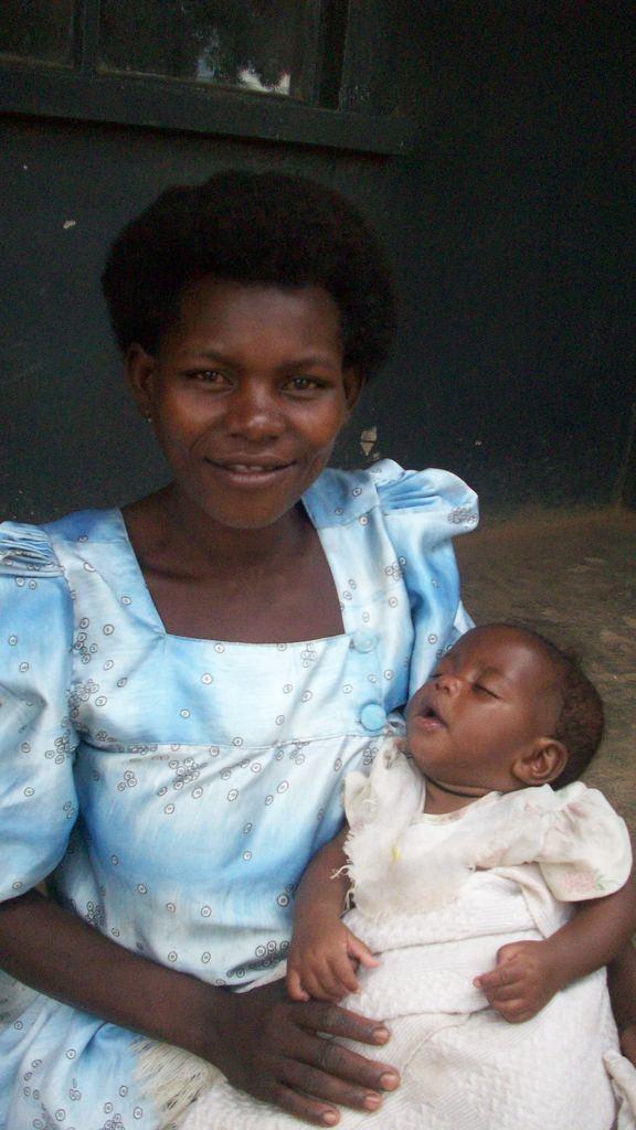 Joviet Babirye 26 with her 5 months old baby.